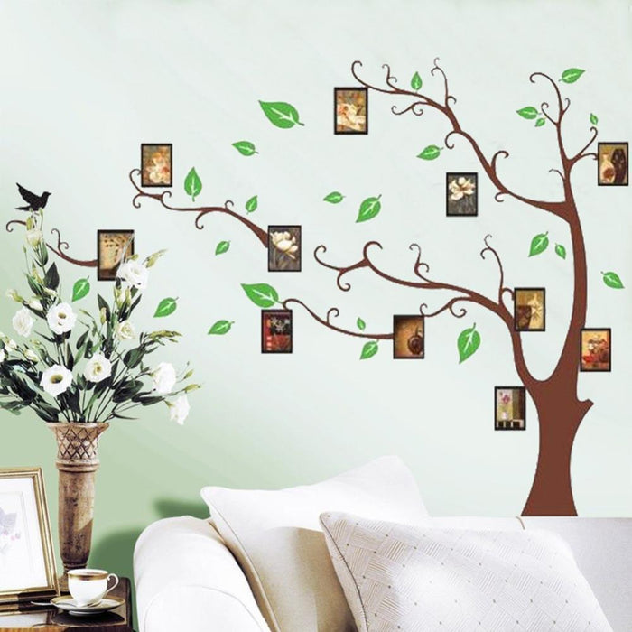 Photo Frame Green Tree Wall Sticker