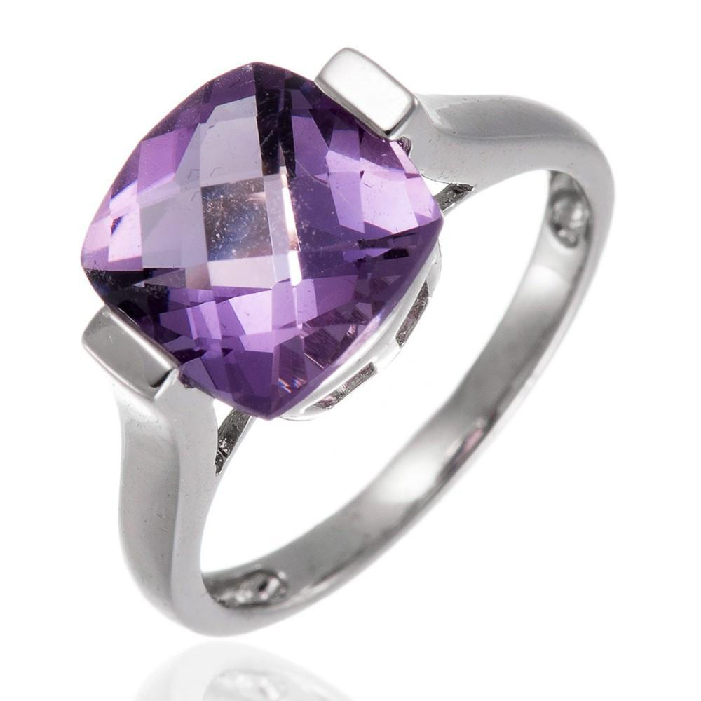 Enya Cushion Amethyst Ring