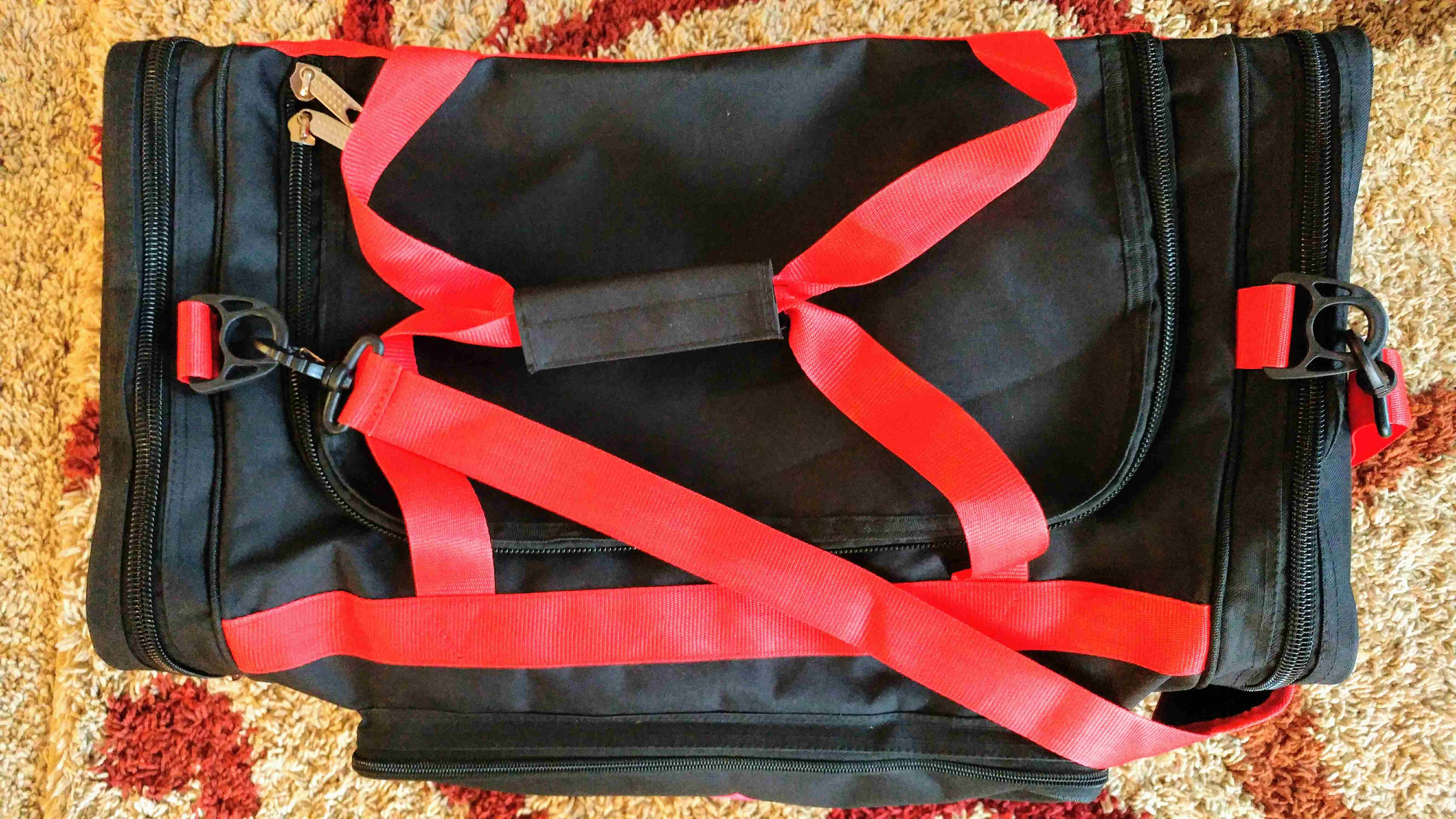 NEW PSA PRO Performance 2.0 Duffle Bag / GYM Bag ( BLACK / RED )