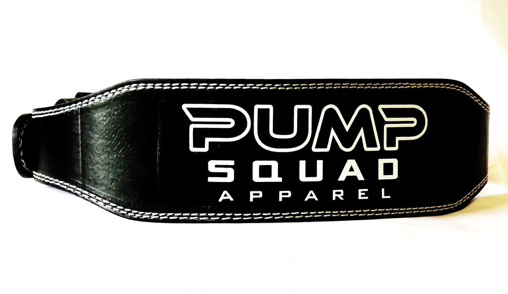 Heavy Duty Padded Weight Lifting Belt (Leather)