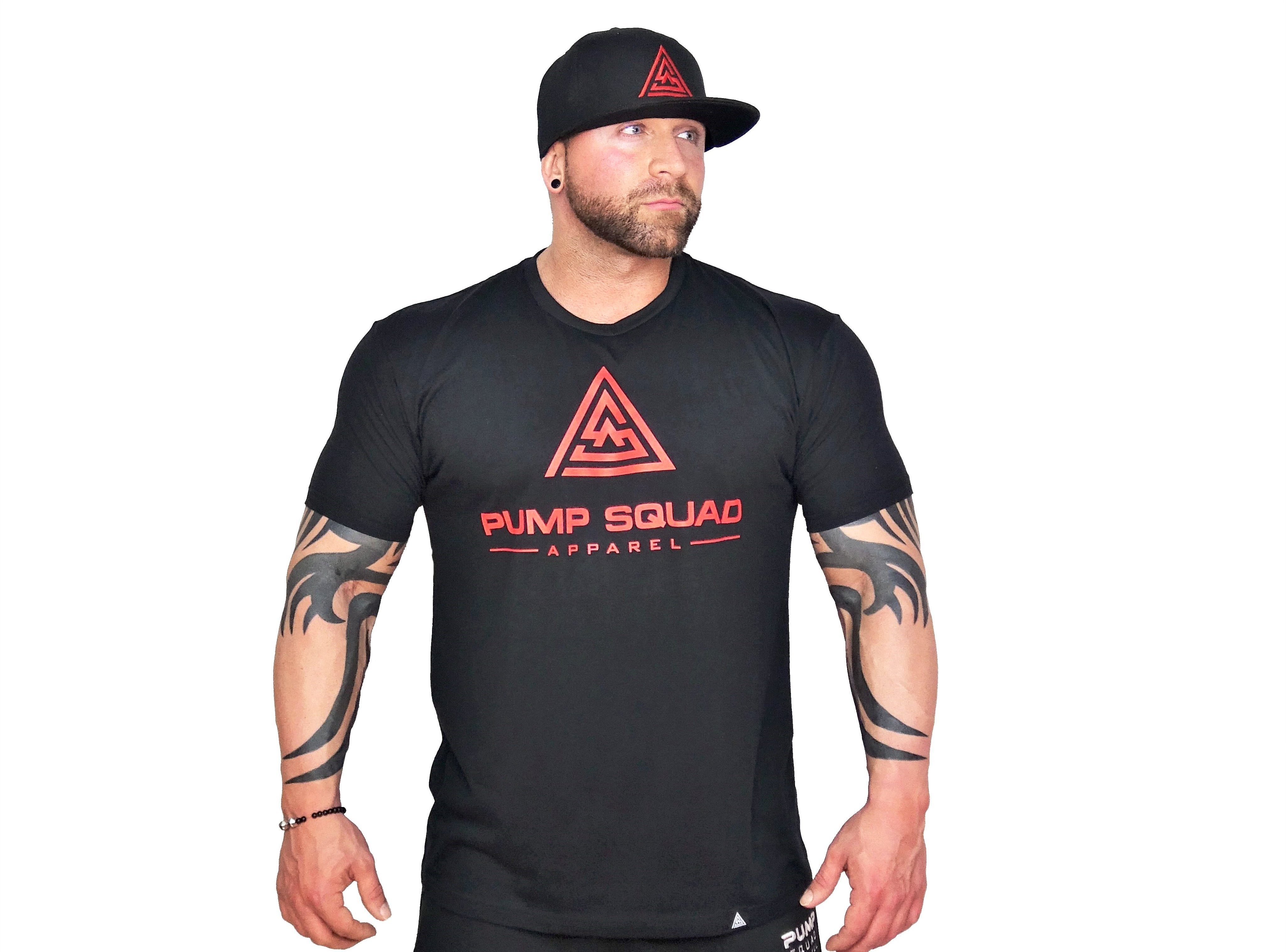 Mens Premium Blend Stronger Than Excuses Fitted T-Shirt (Red/Black)