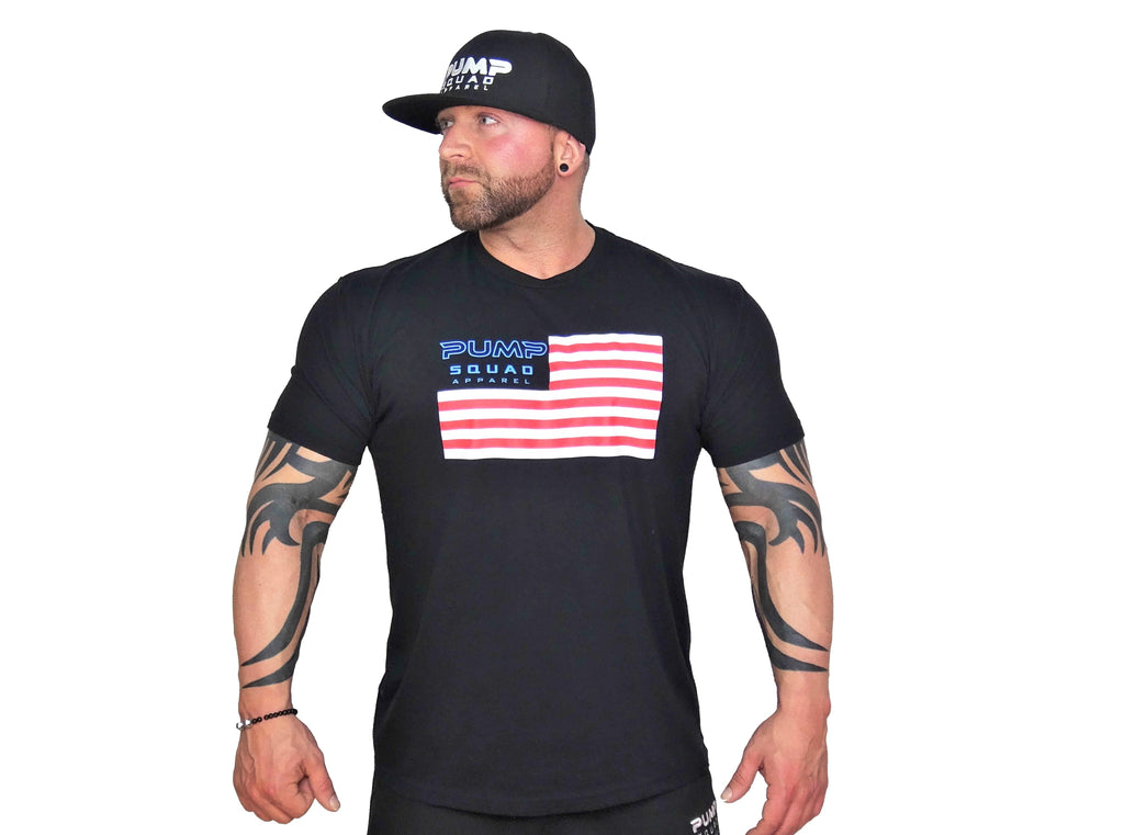 Mens Premium Blend USA Edition Fitted T-Shirt (Red/White/Blue)