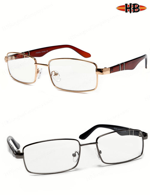 CARTER GOLD CLEAR - HB Sunglass Company