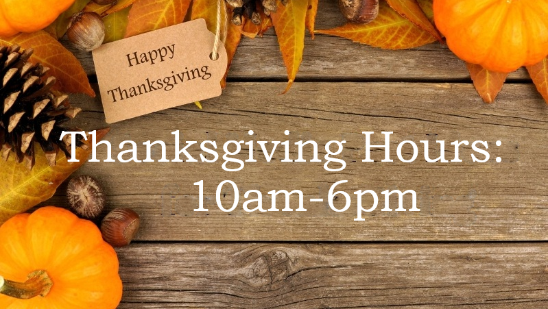 Holiday Hours: Monday October 12th