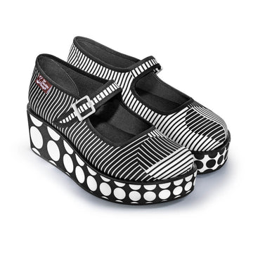 Chocolaticas® Op Art Women's Mary Jane Platform