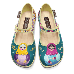 Chocolaticas® Matryoshka Women's Mary Jane Flat