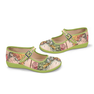 Chocolaticas® Antique Voyage Women's Mary Jane Flat