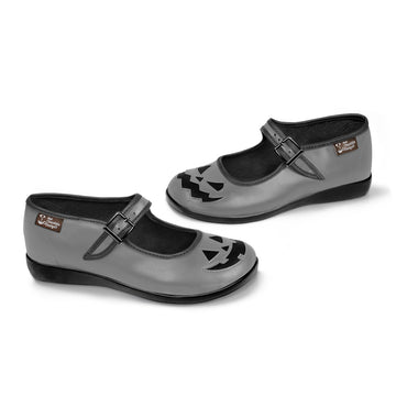 Chocolaticas® Halloween Gray Women's Mary Jane Flat