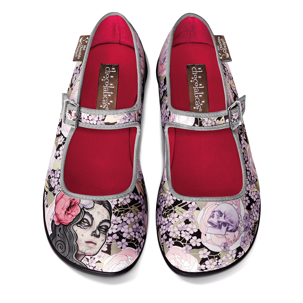 Chocolaticas® Flora La Muerte Women's Mary Jane Flat