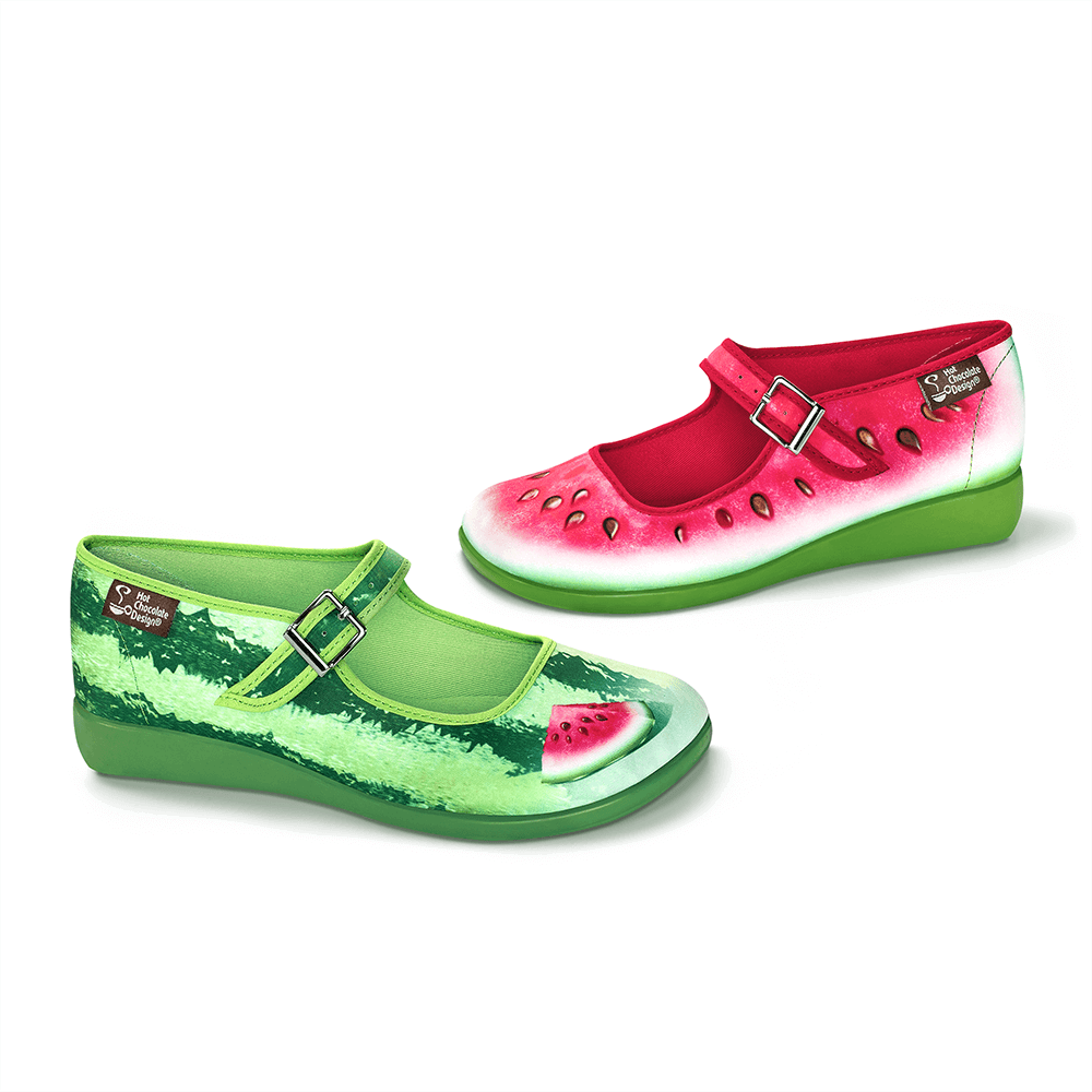 Chocolaticas® Watermelon Women's Mary Jane Flat