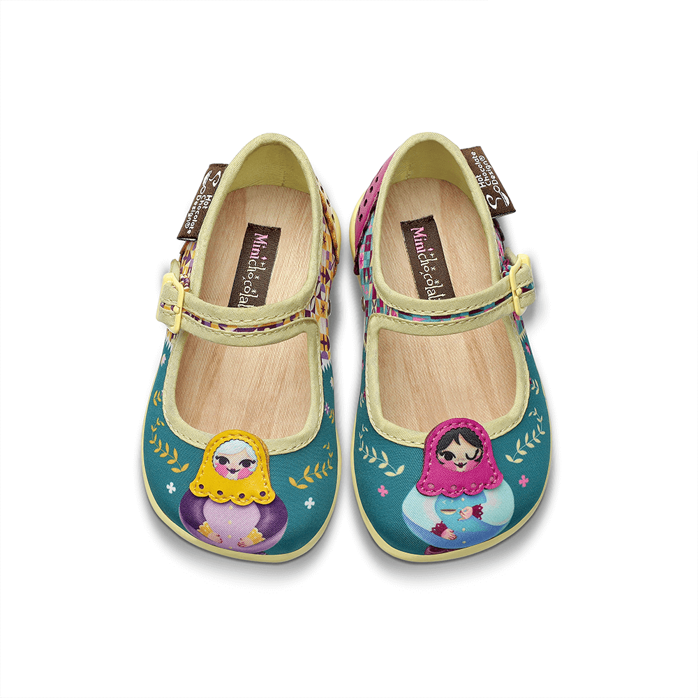 Mini Chocolaticas® Matryoshka Girls Mary Jane Flat