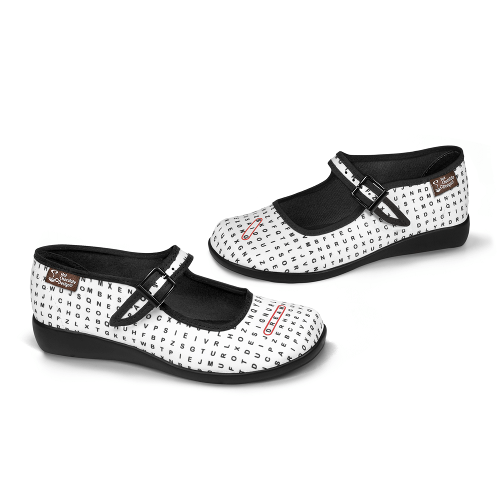 Chocolaticas® Word Search Women's Mary Jane Flat