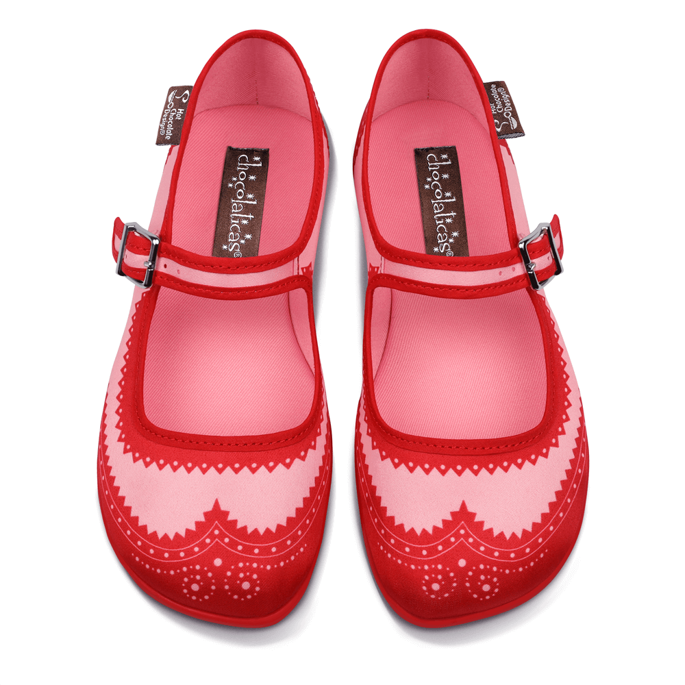 Chocolaticas® Habana Red Women's Mary Jane Flat