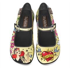 Chocolaticas® Tattoo Women's Mary Jane Flat