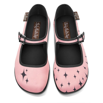 Chocolaticas® Pink Nostalgia Women's Mary Jane Flat