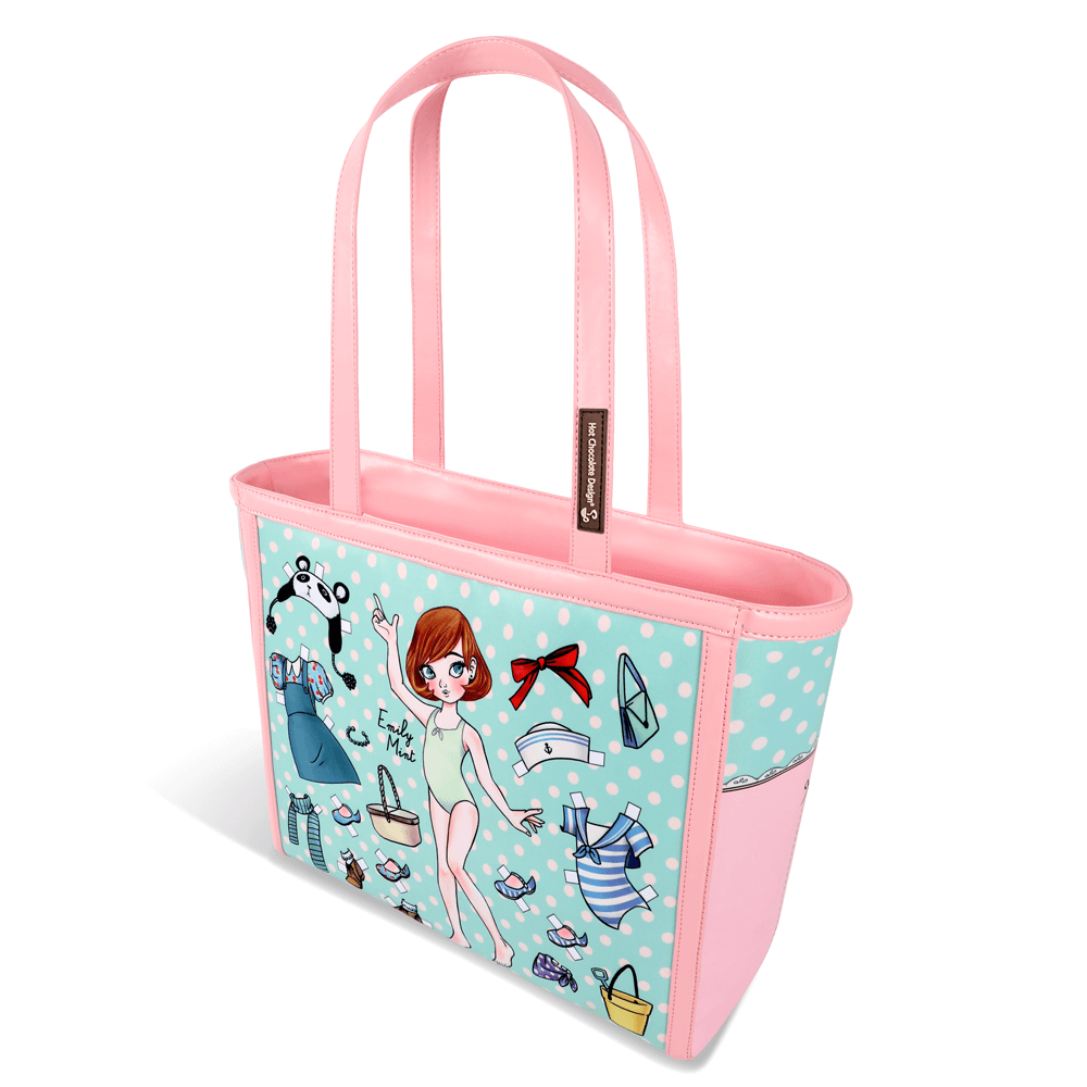 44cd405d8feb4d Chocolaticas Paperdoll Women's | Tote Bag | Hot Chocolate Design