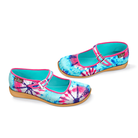 Chocolaticas® Tie Dye Women's Mary Jane Flat