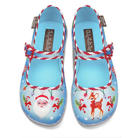 Chocolaticas® Christmas Kitsch Women's Mary Jane Flat