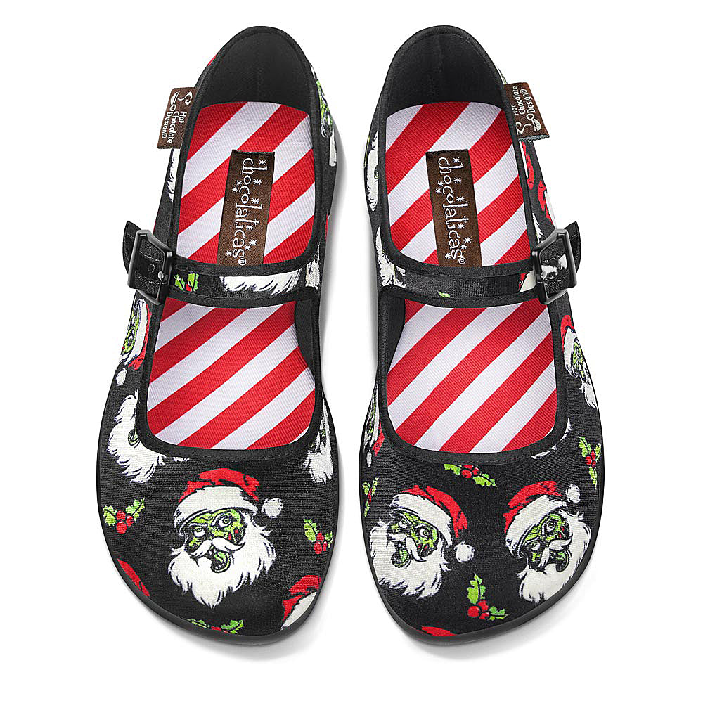 Chocolaticas® Bloody Christmas Women's Mary Jane Flat