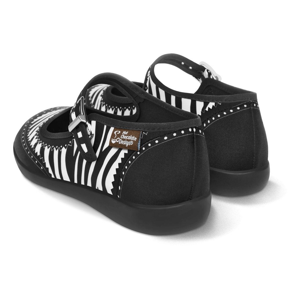 Chocolaticas® Havana Zebra Women's Mary Jane Flat Shoes