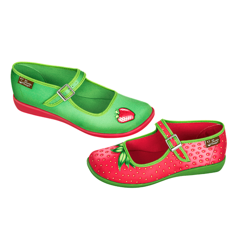 Chocolaticas® Strawberry Women's Mary Jane Flat