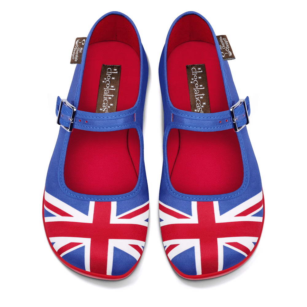 Chocolaticas® Union Jack Women's Mary Jane Flat