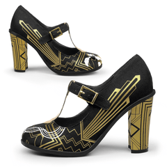 Chocolaticas® High Heels Golden Nights Women's Mary Jane Pump