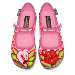 Chocolaticas® Flamingo Women's Mary Jane Flat