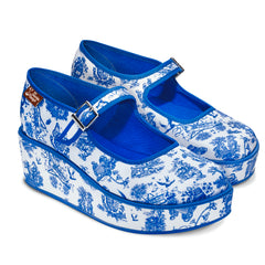 Chocolaticas® Toiles de Jouy Women's Mary Jane Platform