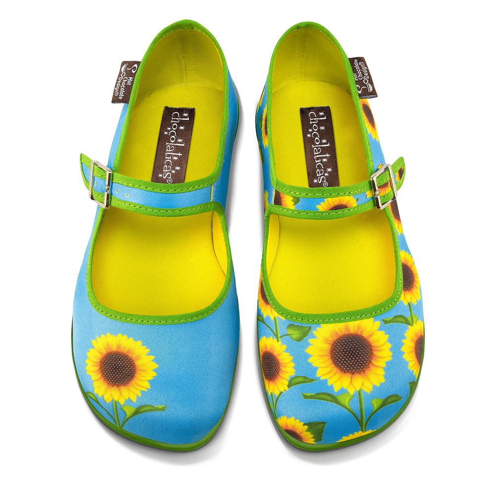 Chocolaticas® Sunflower Women's Mary Jane Flat