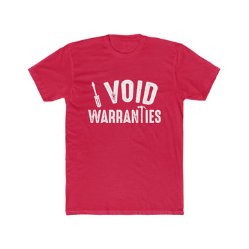 I Void Warranties Men's Cotton Crew Tee Shirt