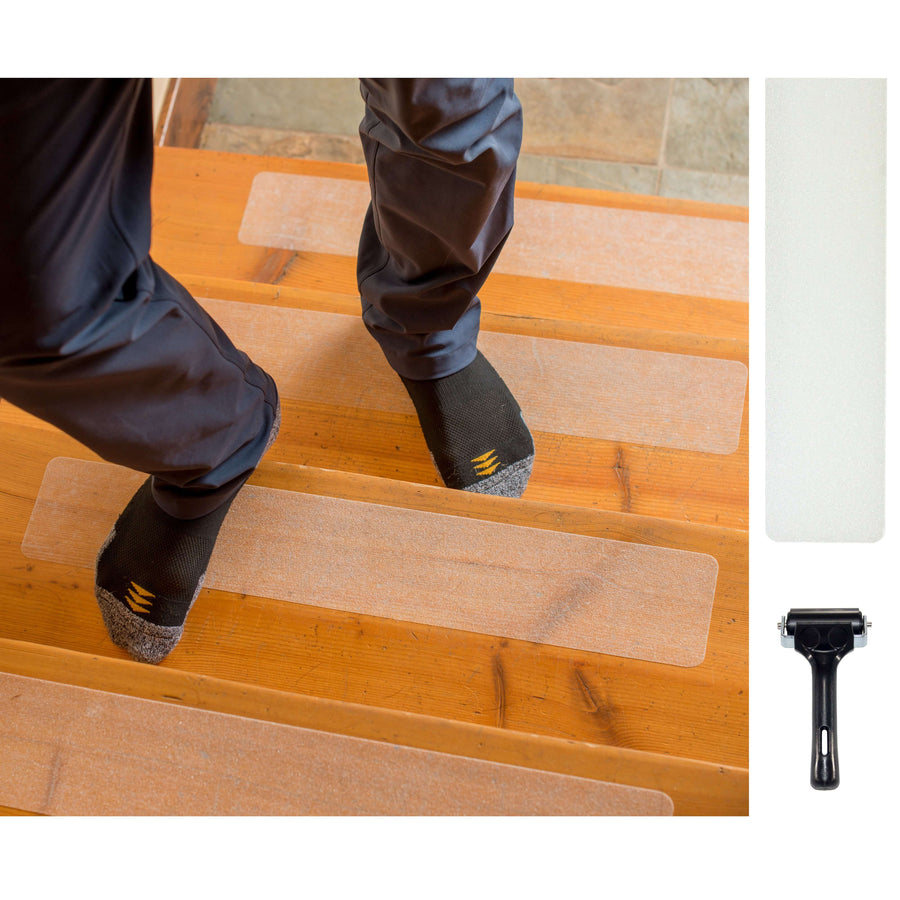 Anti Slip Stair Treads with Superior Grip - Black, Brown, Grey and Clear