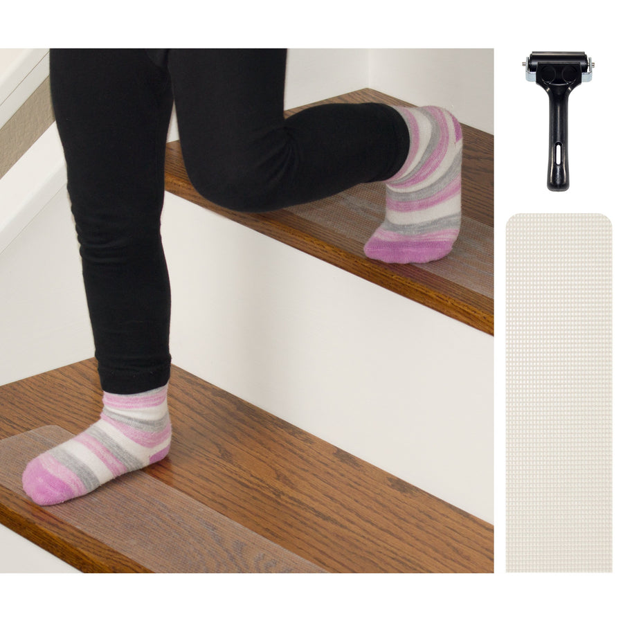 Rubberized Clear Indoor Non Slip Stair Treads