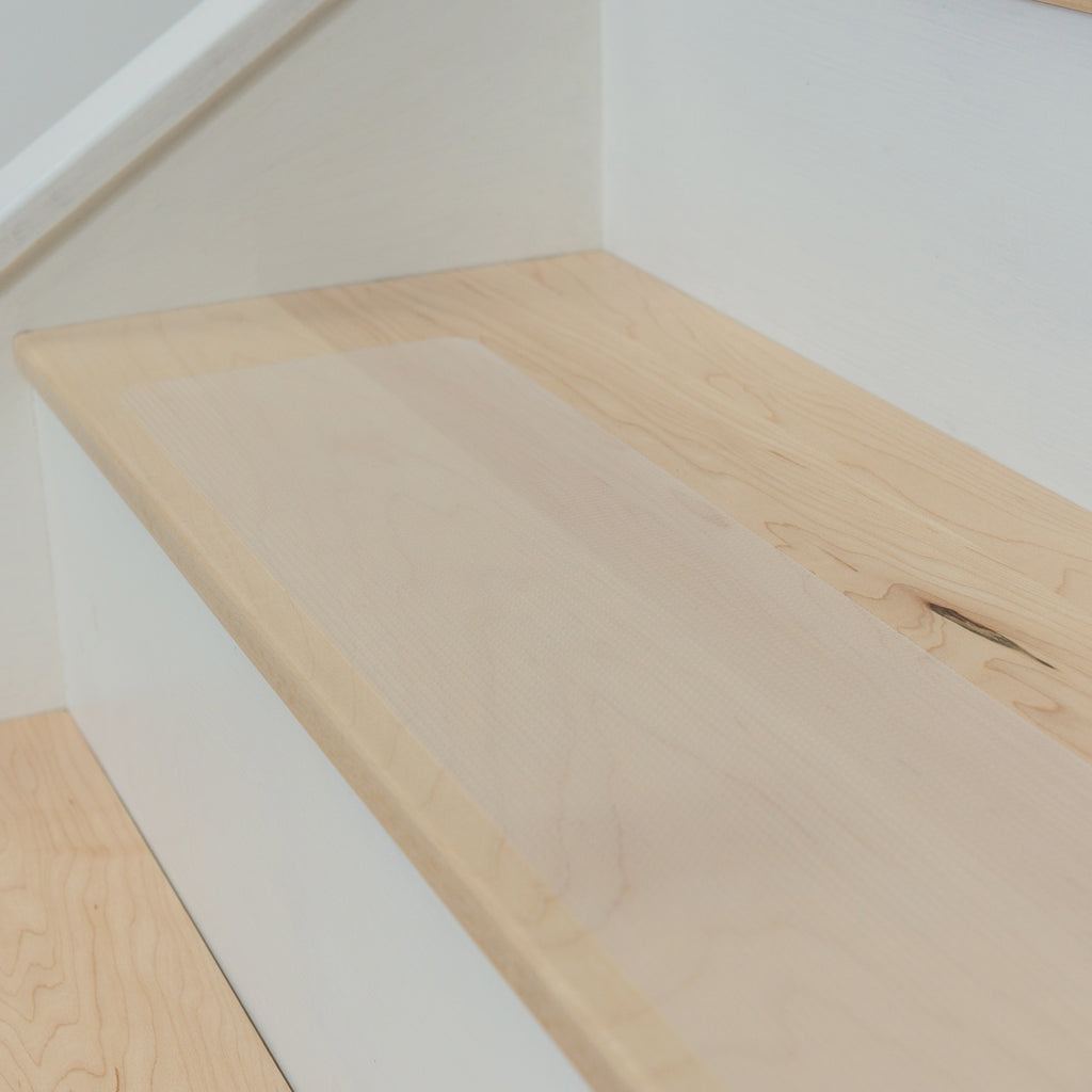 Non-Slip Rubberized Clear Opaque Adhesive Stair Treads - Free Sample Available