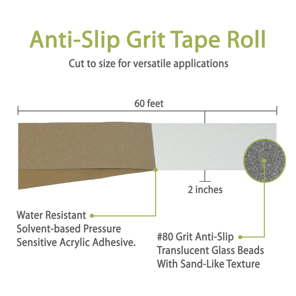Non Slip Stair Treads Clear Opaque Adhesive Grit Tape Roll