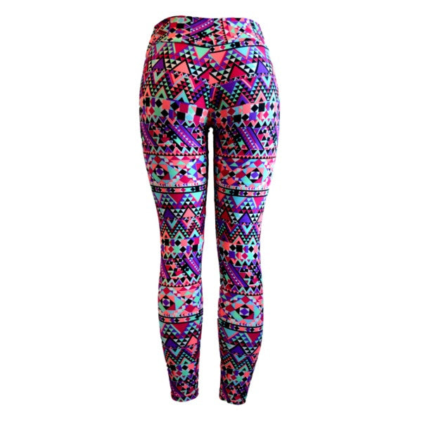 Geo Block Gym Leggings