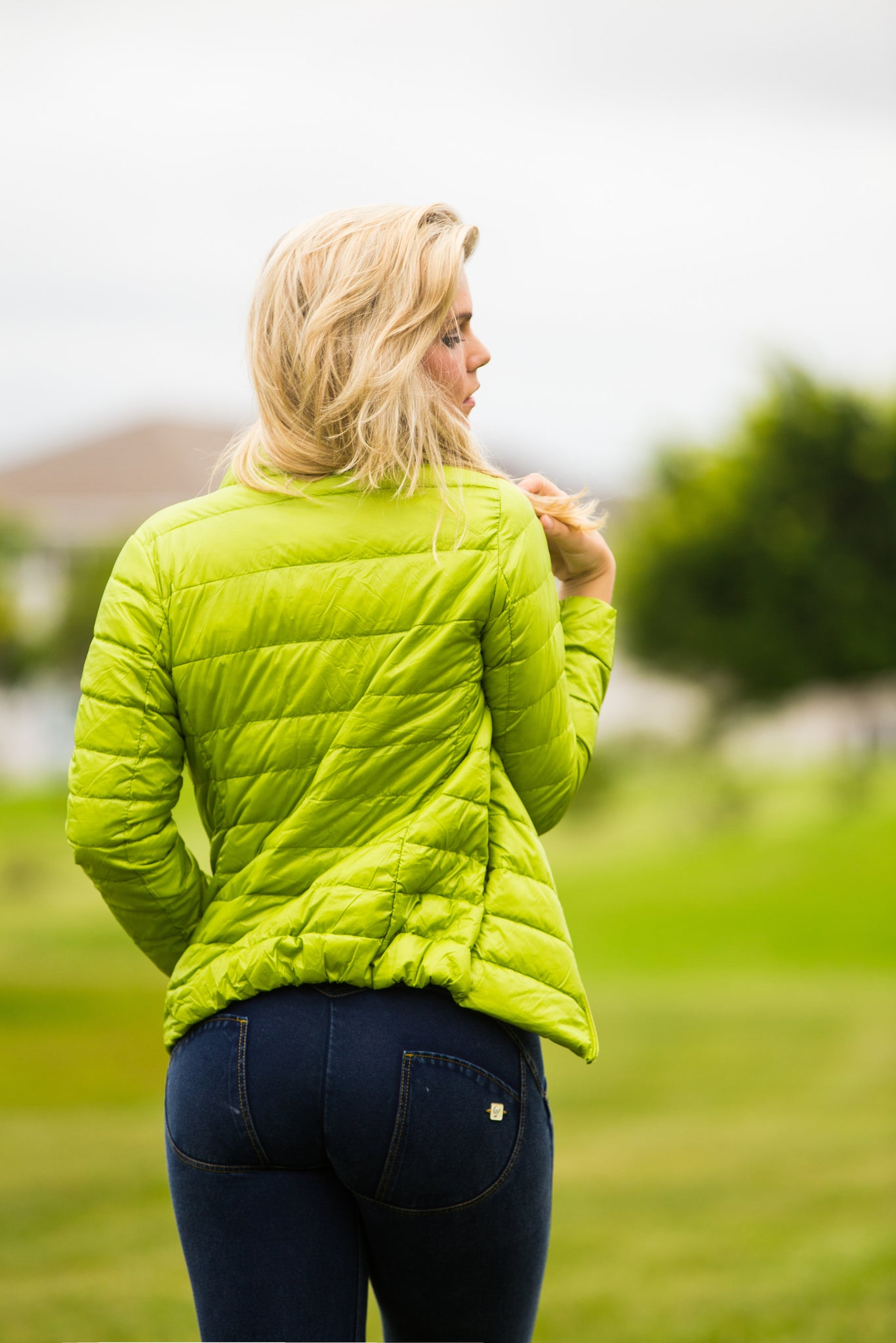 Lime Green Ultra Light Down Jacket