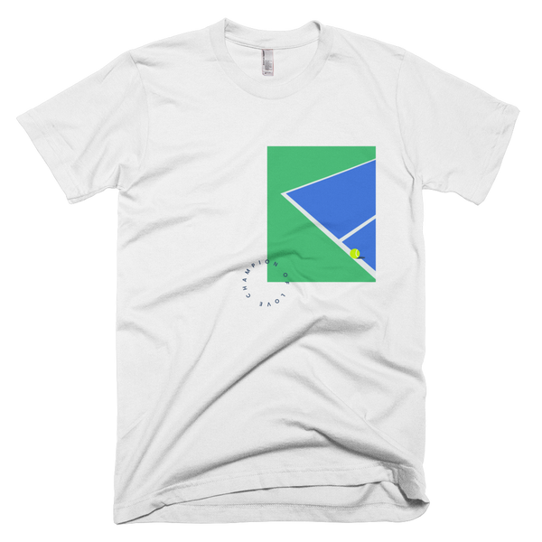 Champion of Love (blue/green/navy print)