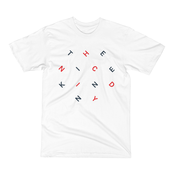 Slanted Letters (navy/red print)