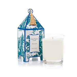 Seda France Classic Toile Hyacinth Pagoda Candle - KeepYoungForever