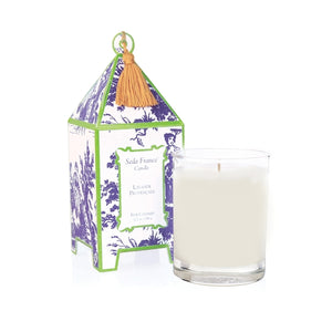 "Seda France Classic Toile Lavande Provencale Pagoda Candle Size: 4"" H x 3"" W x 3"" D"