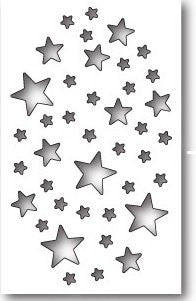 Memory Box Shimmer Star Collage Steel Die