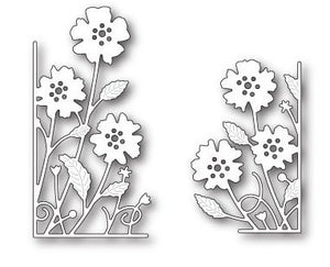 Memory Box Small Antilles Floral Left and Right Corners Steel Dies - KeepYoungForever
