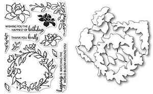 Memory Box Watching The World Bloom Stamp and Die Set