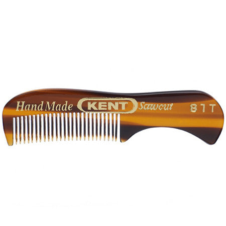 Kent 81T Beard and Moustache Comb + 20T Folding Pocket Comb with Clip - 3