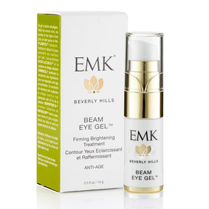 EMK Placental Beam Firming Eye Gel - Brightens Eyes, Reduces Puffiness, and Diminishes Visible Lines and Wrinkles - 0.5 Oz