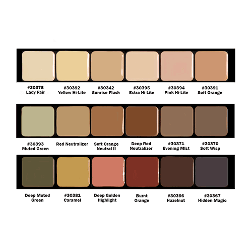 Graftobian HD Creme Global Corrector Super Palette - 2