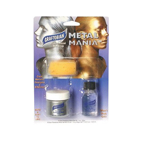 Graftobian Metal Mania - Cosmetic Powdered Metals - Silver