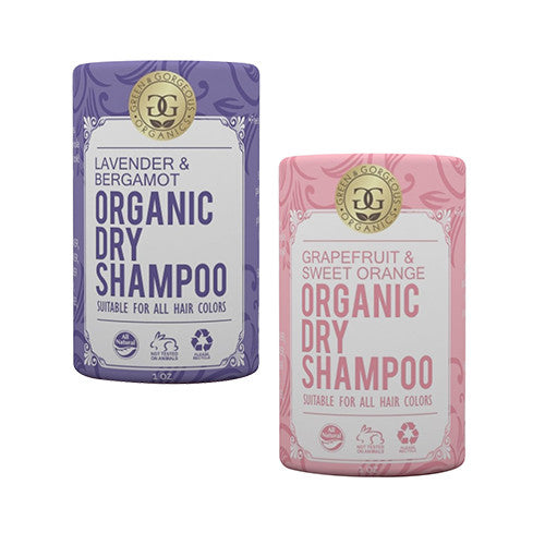 Green & Gorgeous Organics Dry Shampoo - Lavender & Bergamot and Grapefruit & Sweet Orange 2 Pack, 1 oz each