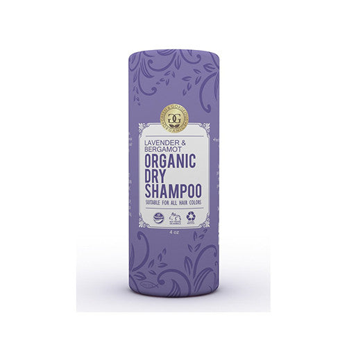 Green & Gorgeous Organics Natural Dry Shampoo Powder for All and Oily Hair Types - Lavender and Bergamot 4 oz